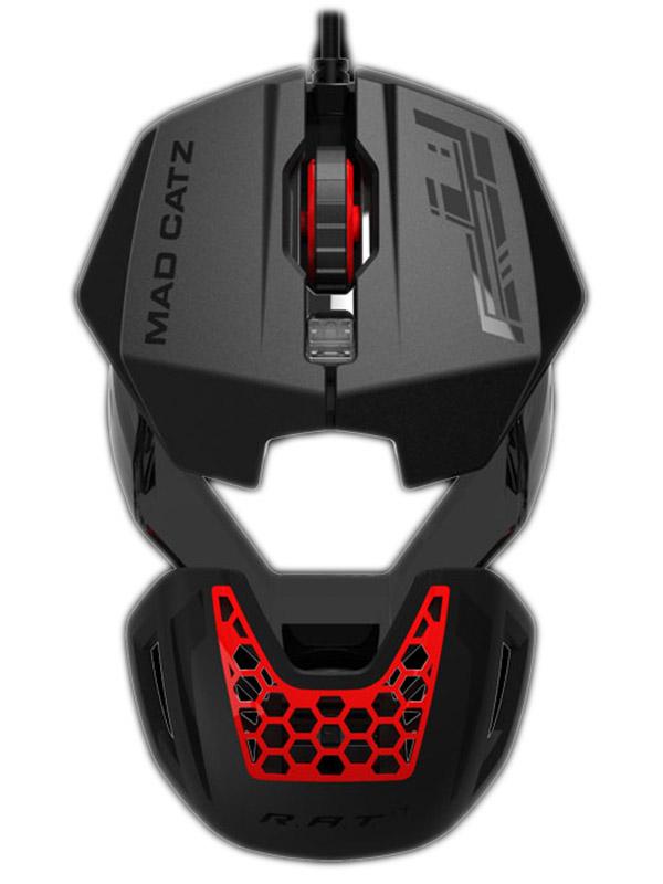 Мышь Mad Catz R.A.T. 1 проводная оптическая для PC (черная с красным)