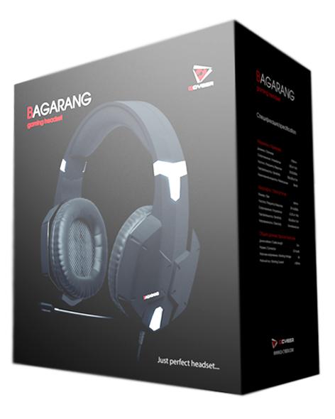 Проводная гарнитура Qcyber Bagarang Black для PC от 1С Интерес
