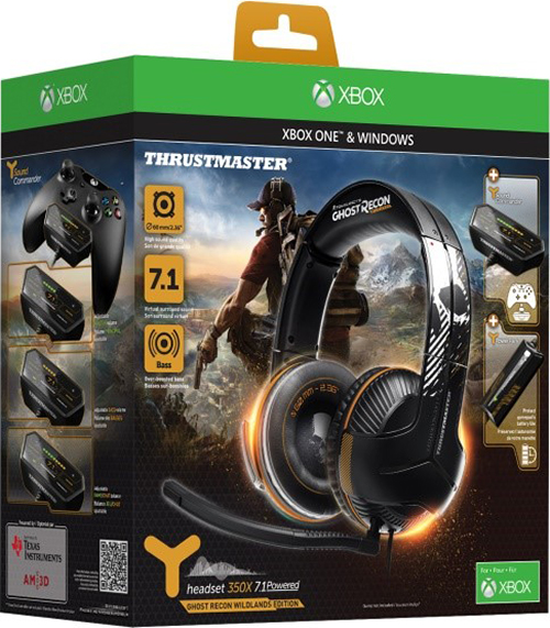 Игровая гарнитура Thrustmaster Y350X 7.1. Powered Ghost Recon Wildlands Edition для Xbox One +  игра Tom Clancy's Ghost Recon: Wildlands [Xbox One] видеоигра для xbox one overwatch origins edition