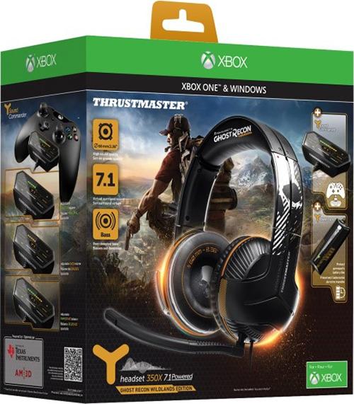 Игровая гарнитура Thrustmaster Y350X 7.1. Powered Ghost Recon Wildlands Edition для Xbox One +  игра Tom Clancys Ghost Recon: Wildlands [Xbox One]Игровая гарнитура ограниченной серии Thrustmaster Y350X 7.1. Powered Ghost Recon Wildlands Edition создана в глобальном партнерстве с легендарным брендом Ghost Recon. Она обеспечивает идеальный звук на Xbox One и ПК с Windows 10! Подключение типа Plug and Play на Xbox One и ПК с Windows 10.<br>