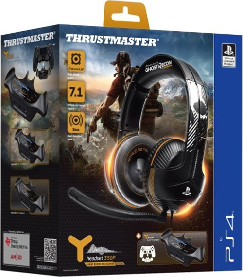 все цены на Игровая гарнитура Thrustmaster Y350P 7.1. Powered Ghost Recon Wildlands Edition для PS4 +  игра Tom Clancy's Ghost Recon: Wildlands [PS4] онлайн