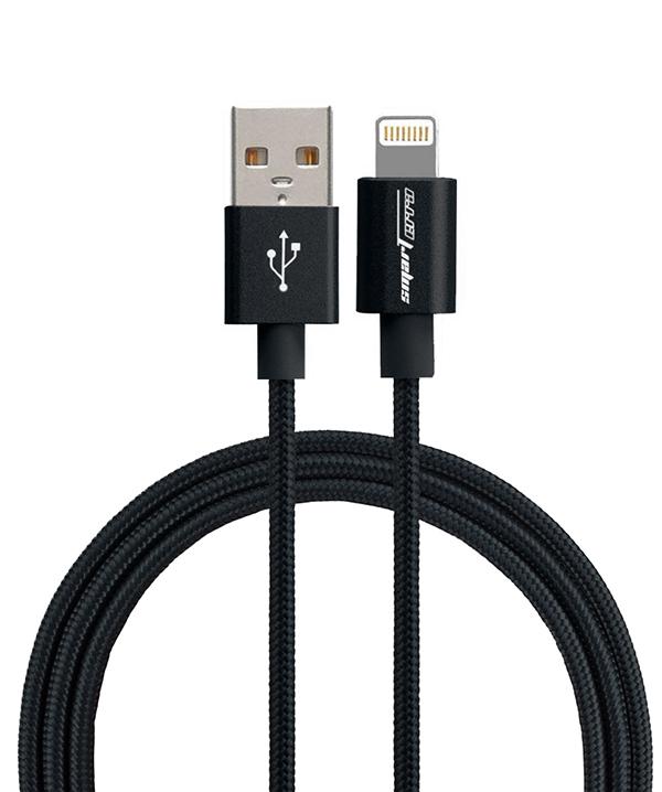 Кабель Smarterra STR-AL002M с разъемом Lightning для устройств Apple (черный) от 1С Интерес