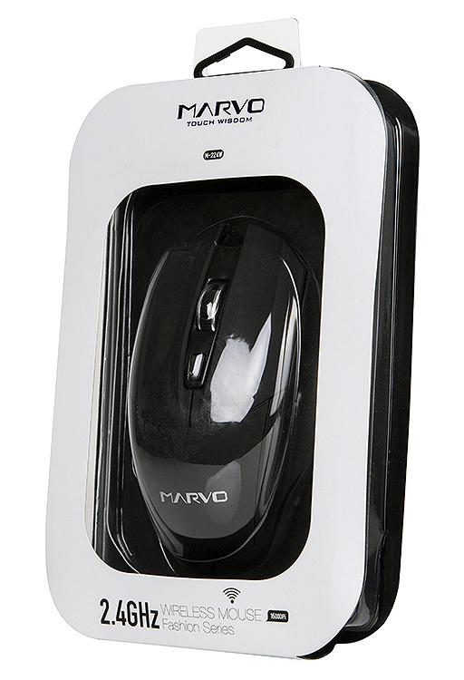Беспроводная оптическая мышь Marvo M-224W для PCMarvo M-224W &amp;ndash; беспроводная оптическая мышь с разрешением 1600DPI и 6-ю кнопками.<br>