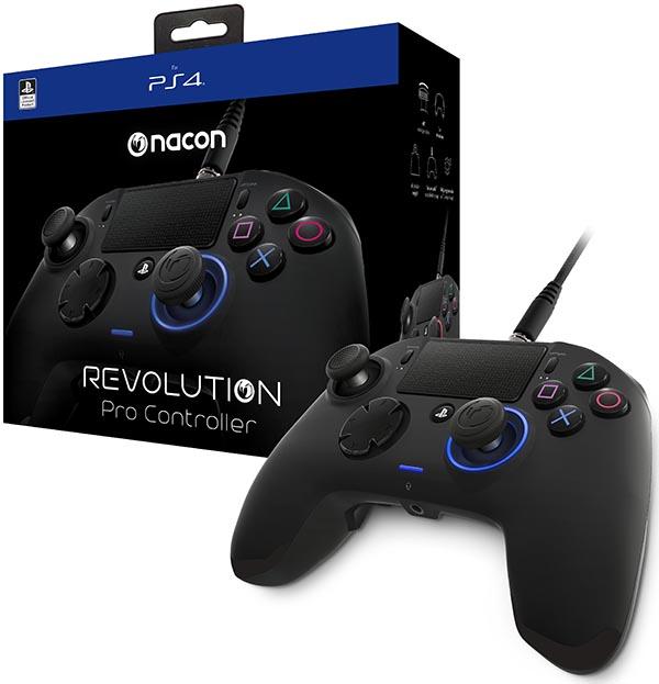 Проводной геймпад Nacon Revolution Pro Controller для PS4Контроллер, разработанный для профессионалов eSports. Получите преимущество с полностью настраиваемым контроллером Revolution Pro Controller, сочетающим функции и команды eSports и адаптирующимся к любому стилю соревновательной игры.<br>
