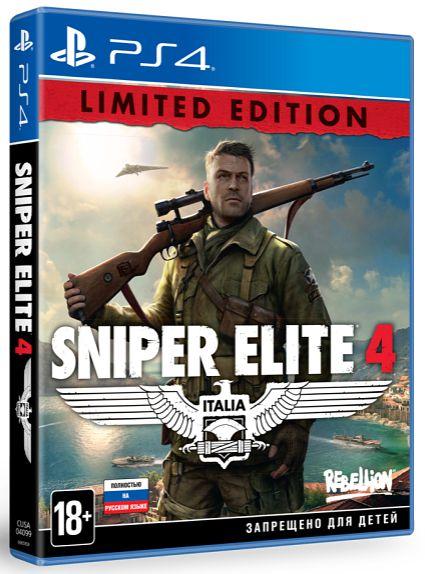 Sniper Elite 4 Limited Edition [PS4]Sniper Elite 4 продолжает серию игр о Второй мировой войне. Новая Sniper Elite &amp;ndash; это лучшая баллистика, увлекательный режим скрытности от третьего лица и самые обширные и красочные пейзажи!<br>