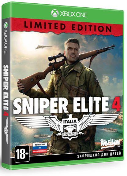 Sniper Elite 4 Limited Edition [Xbox One]Sniper Elite 4 продолжает серию игр о Второй мировой войне. Новая Sniper Elite &amp;ndash; это лучшая баллистика, увлекательный режим скрытности от третьего лица и самые обширные и красочные пейзажи!<br>