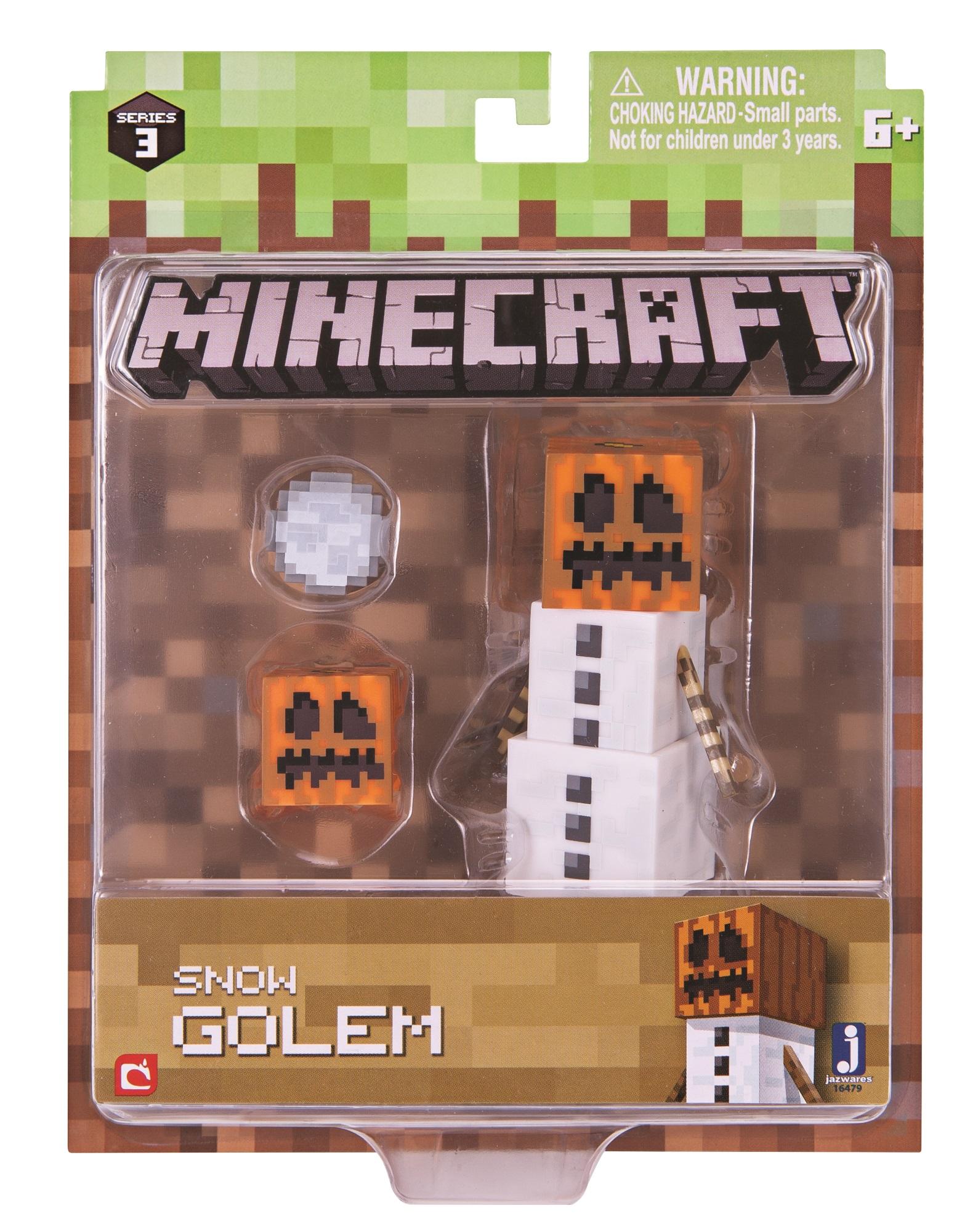 Фигурка Minecraft: Snow Golem – Series 3Minecraft Series 3 Snow Golem Pack – Series 3 представляет собой набор фигурок, каждая из которых выполняет важную роль в Minecraft – мире, который целиком и полностью зависит от вашего воображения.<br>