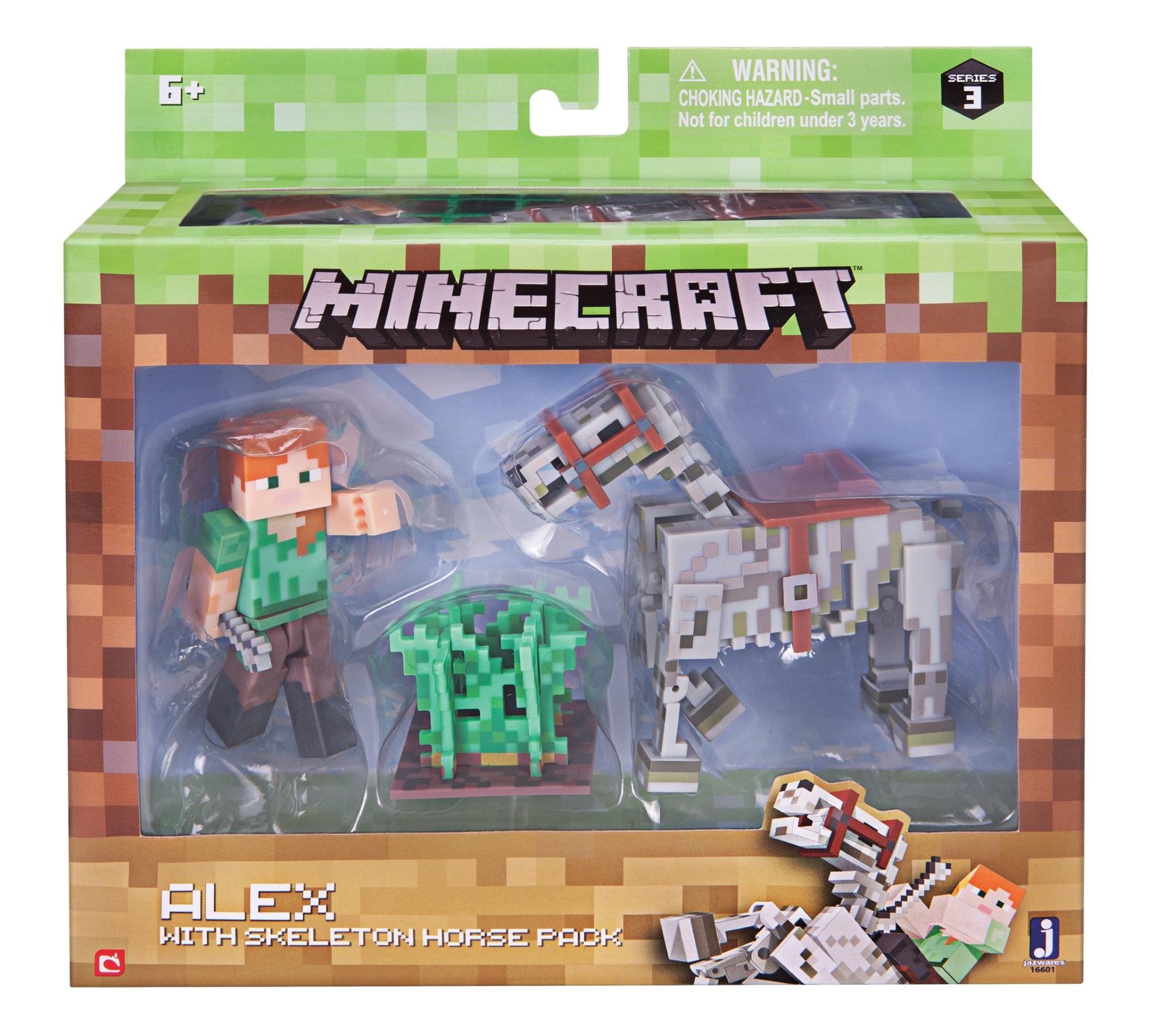 Набор фигурок Minecraft: Alex with Skeleton Horse – Series 3Представляем набор фигурок Minecraft: Alex with Skeleton Horse, созданный по мотивам популярной компьютерной игры.<br>