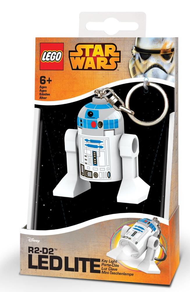 Брелок-фонарик для ключей LEGO Star Wars: R2-D2Брелок-фонарик R2-D2 станет прекрасным подарком для поклонников фантастической серии. Моделька выполнена в лучших традициях LEGO и поражает своей проработанностью.<br>