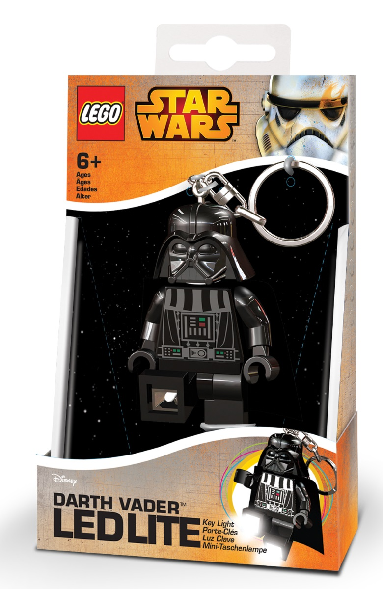 Брелок-фонарик для ключей LEGO Star Wars: Darth Vader lego lego брелок для ключей джестро
