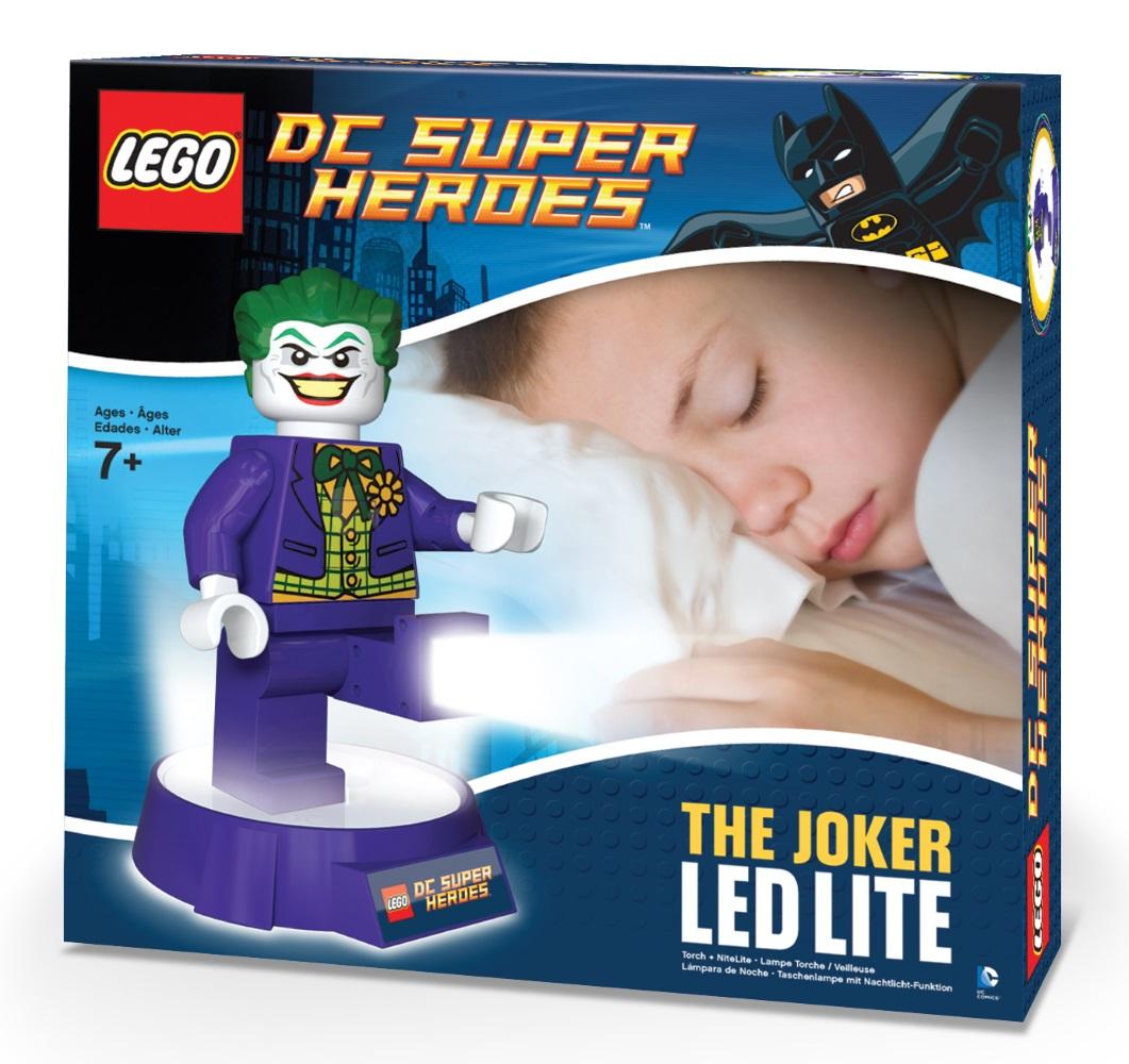 Фонарь LEGO DC Super Heroes: JokerИнтересный и необычный фонарик-ночник серии DC Super Heroes выполнен в лучших традициях LEGO и поражает своей проработанностью. Он крепится к удобной подставке и выполняет множество полезных функций.<br>
