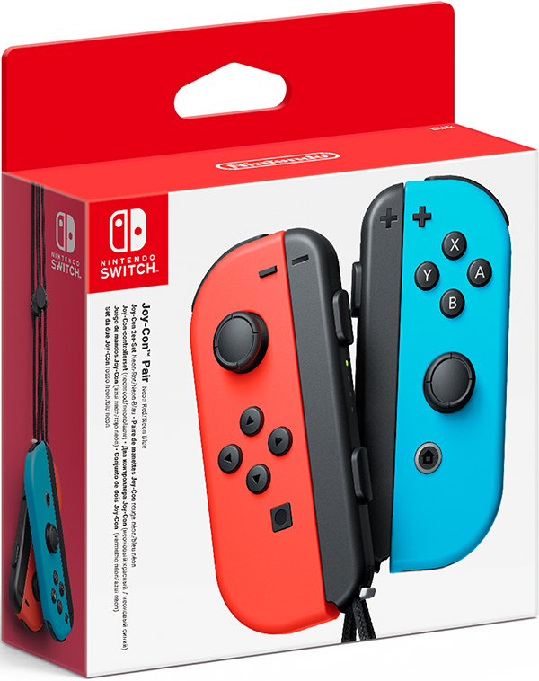 Набор контроллеров Joy-Con для Nintendo Switch (неоновый красный/неоновый синий) геймпад nintendo switch joy con controllers duo красный синий