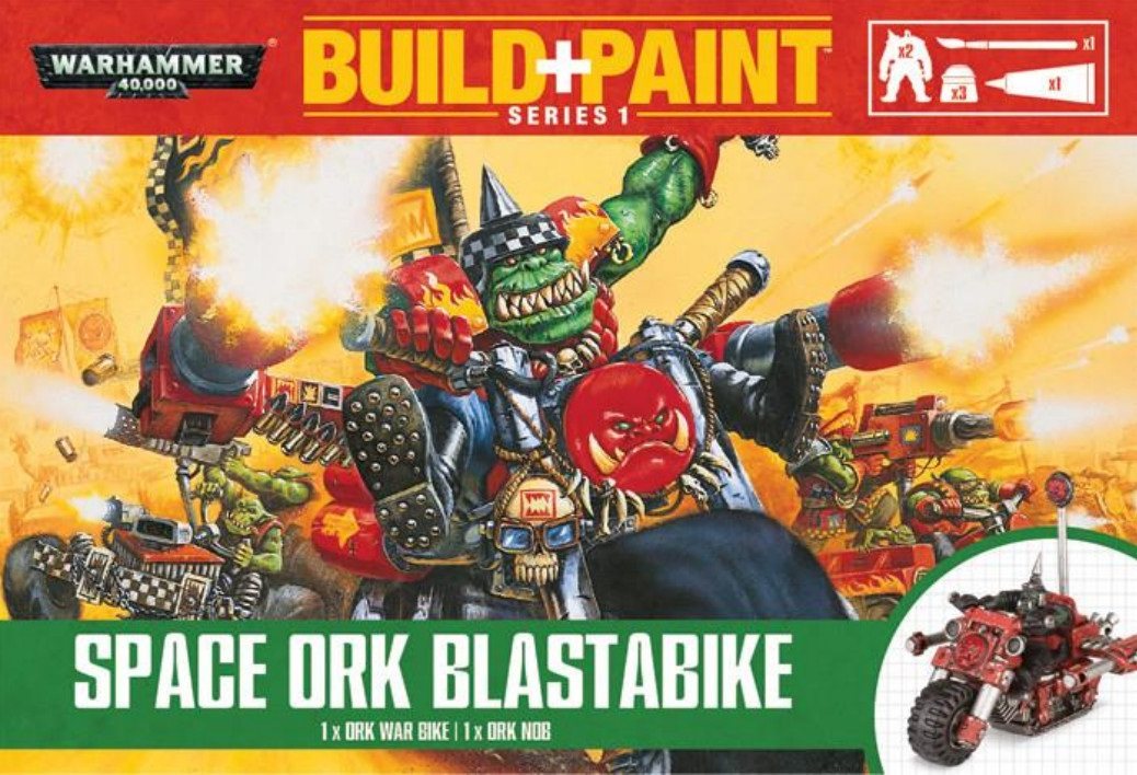 Warhammer 40 000: Miniatures Build+Paint – Space Ork Blastabike russian lacquer miniatures