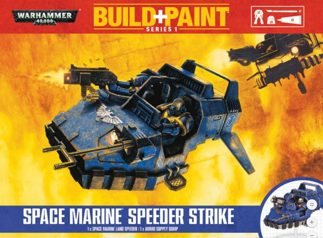 Warhammer 40 000: Miniatures Build+Paint – Space Marine Speeder Strike microatx inwin emr 033 450
