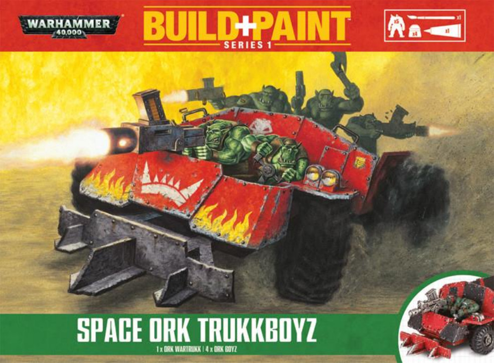 Warhammer 40 000: Miniatures Build+Paint – Space Ork TrukkboyzПредставляем набор Warhammer 40 000: Miniatures Build+Paint – Space Ork Trukkboyz.<br>
