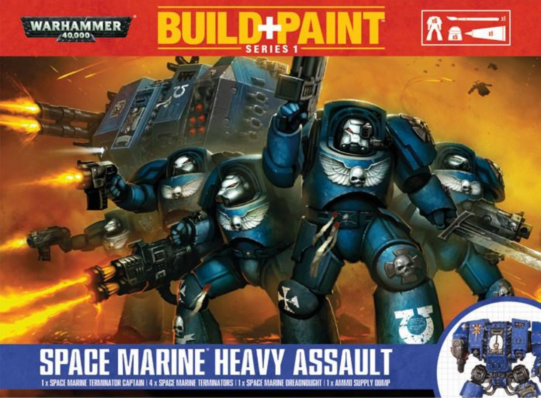 Warhammer 40 000: Miniatures Build+Paint – Space Marine Heavy Assault