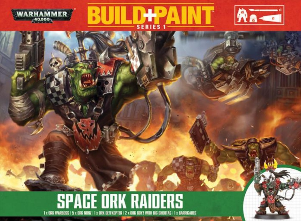 Warhammer 40 000: Miniatures Build+Paint – Space Ork RaidersПредставляем набор Warhammer 40 000: Miniatures Build+Paint – Space Ork Raiders.<br>