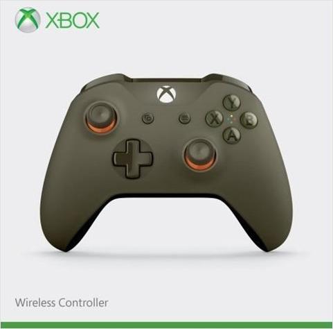 Беспроводной геймпад для Xbox One с 3,5 мм разъемом и Bluetooth (зеленый/оранжевый)