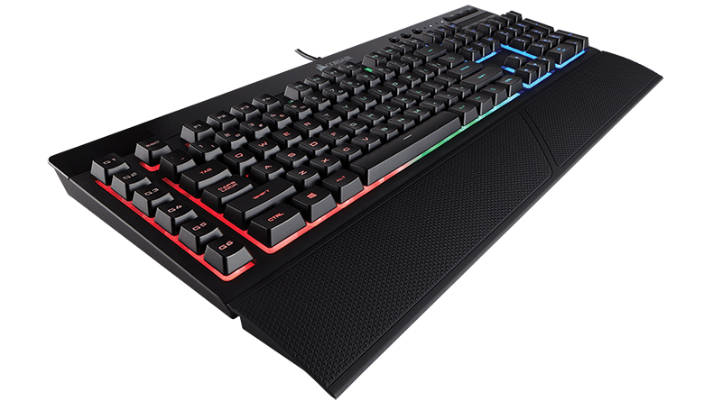 Клавиатура Corsair Gaming K55 RGB проводная игровая для PC клавиатура corsair gaming strafe rgb cherry mx brown black usb [ch 9000094 ru]