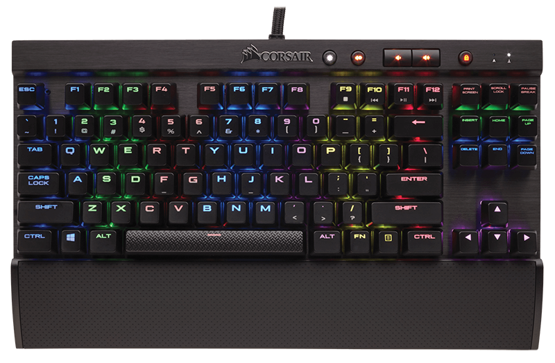 Клавиатура Corsair Gaming K65 RGB Rapidfire проводная игровая для PC клавиатура corsair gaming k70 rapidfire cherry mx speed black usb [ch 9101024 ru]