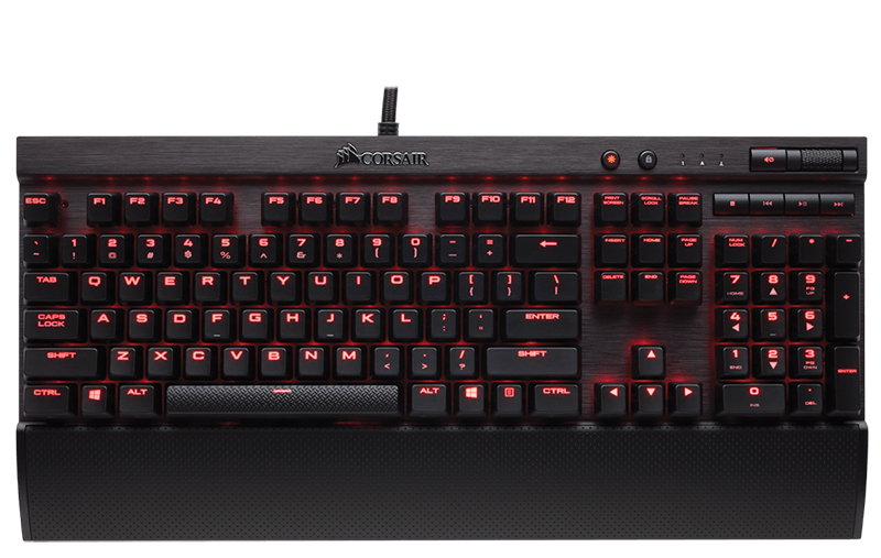 Клавиатура Corsair Gaming K70 Rapidfire Cherry MX Speed проводная игровая для PC клавиатура asus strix tactic pro cherry mx black black usb 90yh0081 b2ra00
