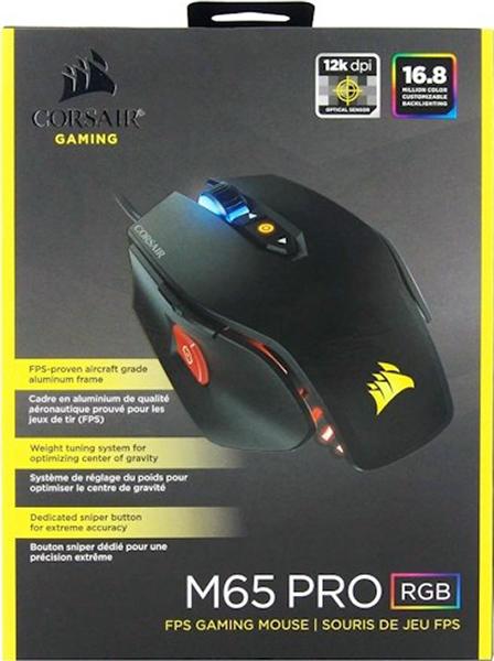 Мышь Corsair M65 Pro RGB проводная оптическая игровая для PC клавиатура corsair gaming k95 rgb cherry mx brown проводная игровая для pc