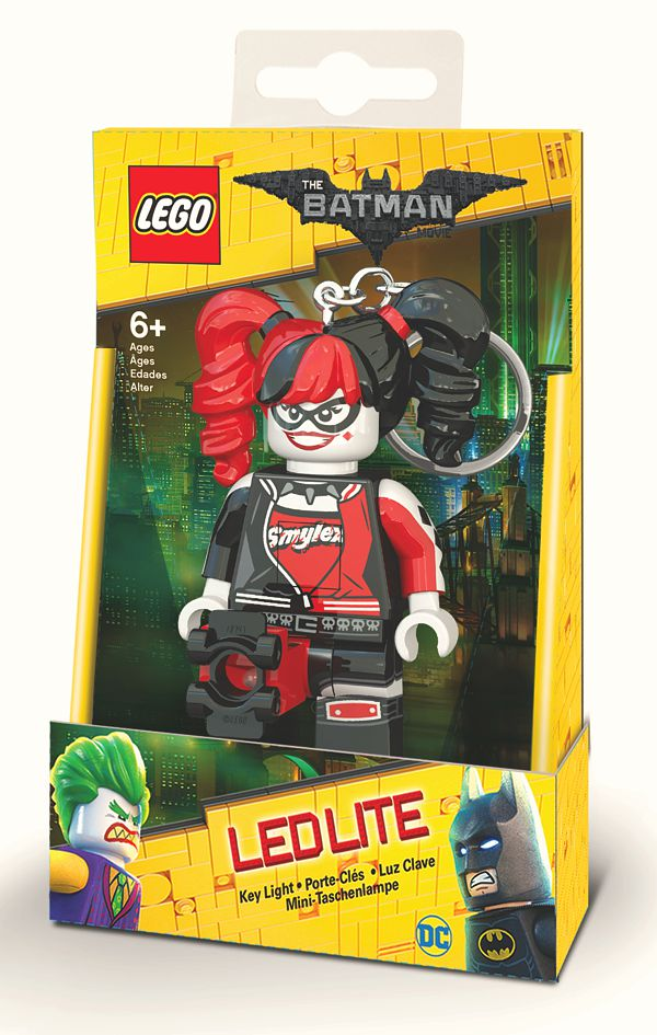 цены Брелок-фонарик для ключей LEGO Batman Movie (Лего Фильм: Бэтмен) – Harley Quinn
