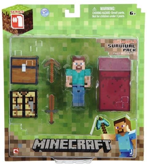 Набор Minecraft Core Player SurvivalВ наборе Minecraft Core Player Survival, выпущенный фирмой Jazwares, входят все вещи, необходимые игроку для выживания в любых условиях.<br>