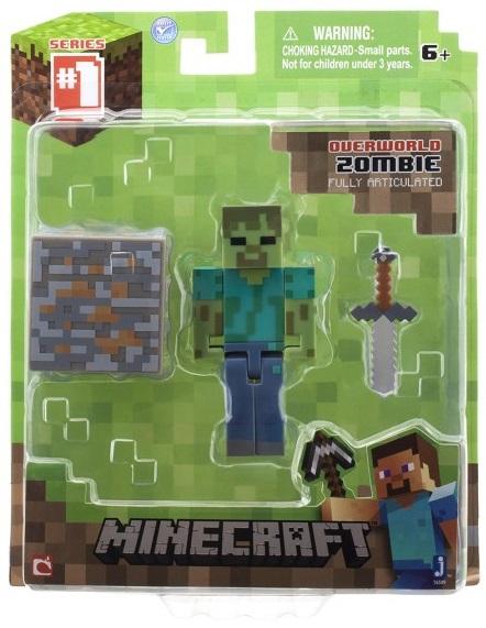 Фигурка Minecraft Zombie с аксессуарами (6 см) фигурка minecraft adventure zombie pigman 10 см