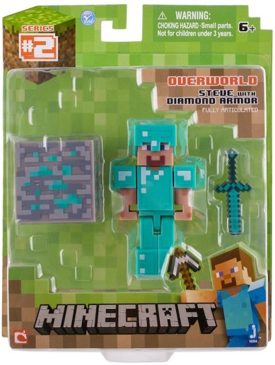 Фото #1: Фигурка Minecraft Steve with Diamond Armor с аксессуарами (6 см)