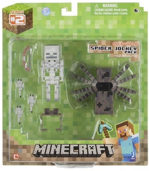 Набор фигурок Minecraft. Spider Jockey Pack (8 см)Набор фигурок Minecraft. Spider Jockey Pack создан по мотивам популярной игры и воплощает собой паука и его наездника.<br>