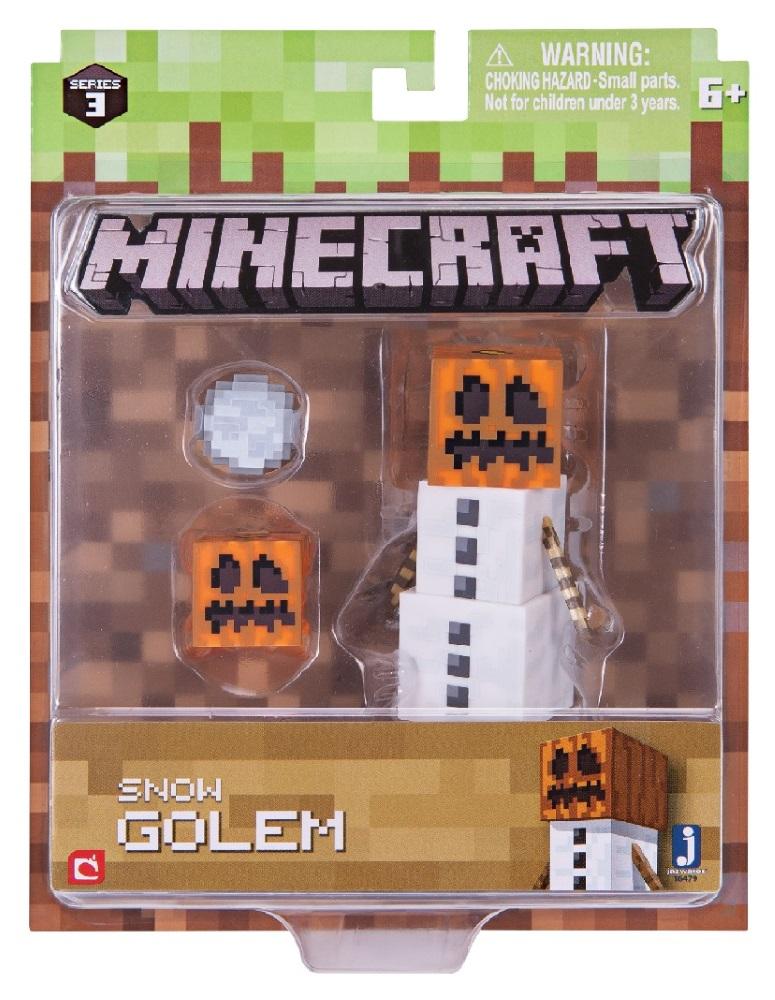 Фигурка Minecraft: Snow Golem – Series 3 носки minecraft socks 3 pack green зеленые s 3 пары 11750
