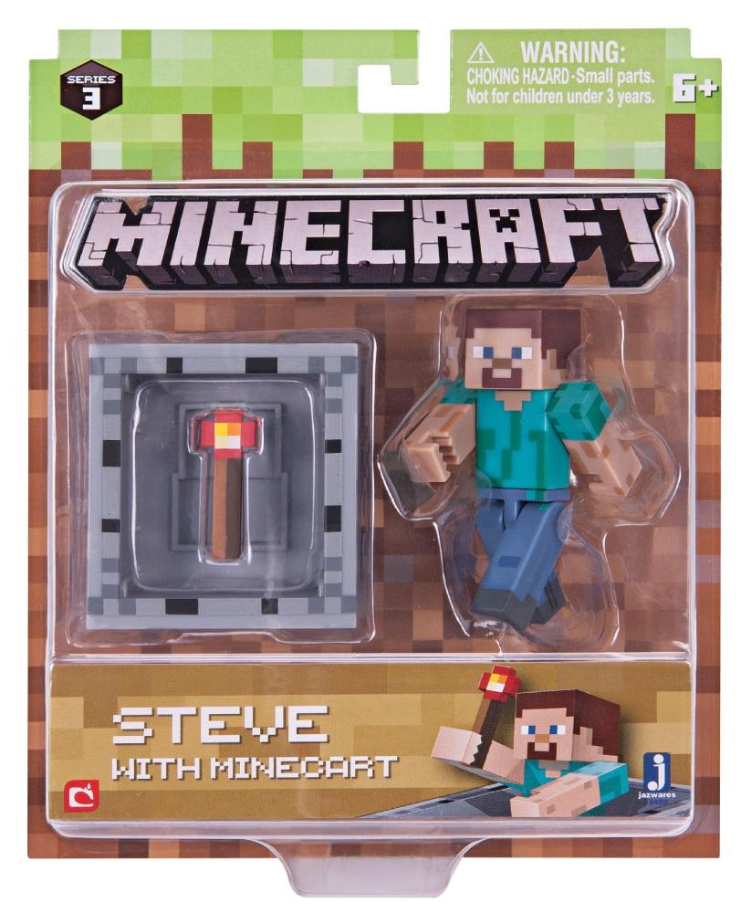 Фигурка Minecraft: Steve With Minecart – Series 3Представляем фигурку Minecraft: Steve With Minecart, созданную по мотивам популярной компьютерной игры.<br>