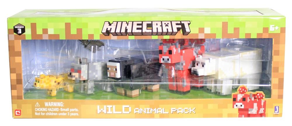 Набор фигурок Minecraft: Wild Animal Pack – Series 3Представляем набор фигурок Minecraft: Wild Animal Pack, созданный по мотивам популярной компьютерной игры.<br>