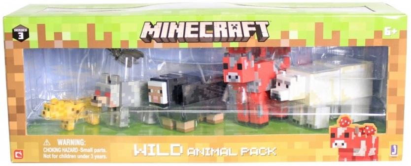 Набор фигурок Minecraft: Wild Animal Pack – Series 3Набор фигурок Minecraft: Wild Animal Pack создан по мотивам популярной компьютерной игры.<br>