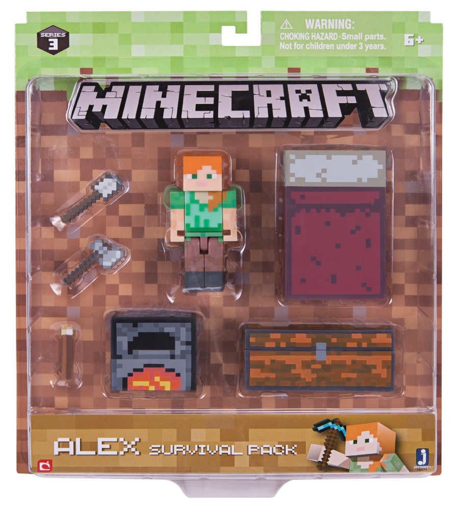 Набор фигурок Minecraft: Alex Survival Pack – Series 3 набор фигурок cut the rope 2 pack 9