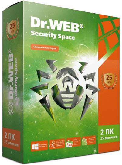 Dr.Web Security Space (2 ПК / 25 месяцев). Юбилейное издание