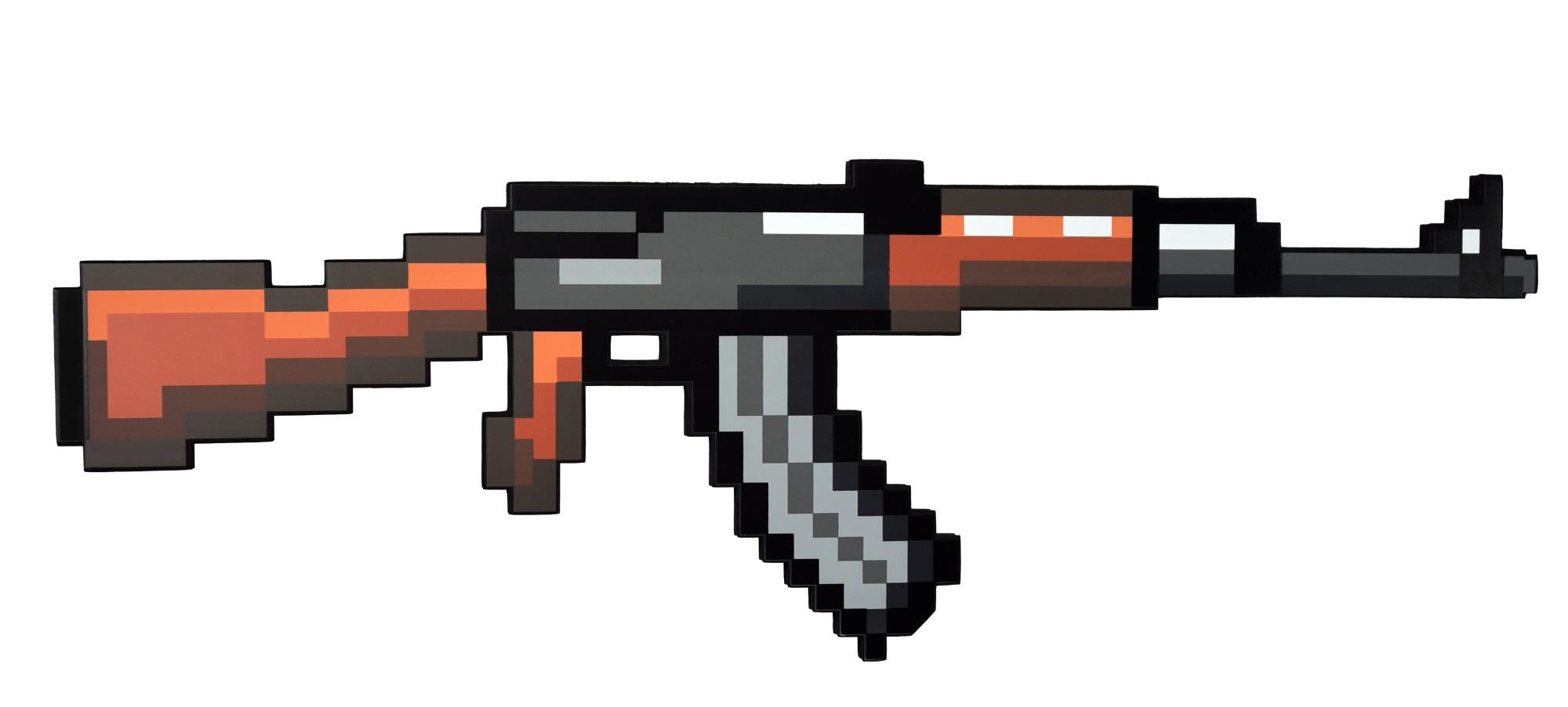 Пиксельный автомат АК 8 Бит (68 см) пиксельный меч ледяной 8 бит зеленый 60 см