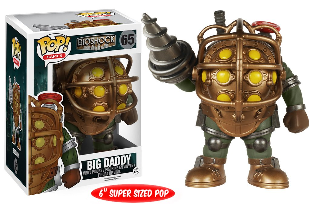 Фигурка Funko POP Games: BioShock – Big Daddy (15 см)