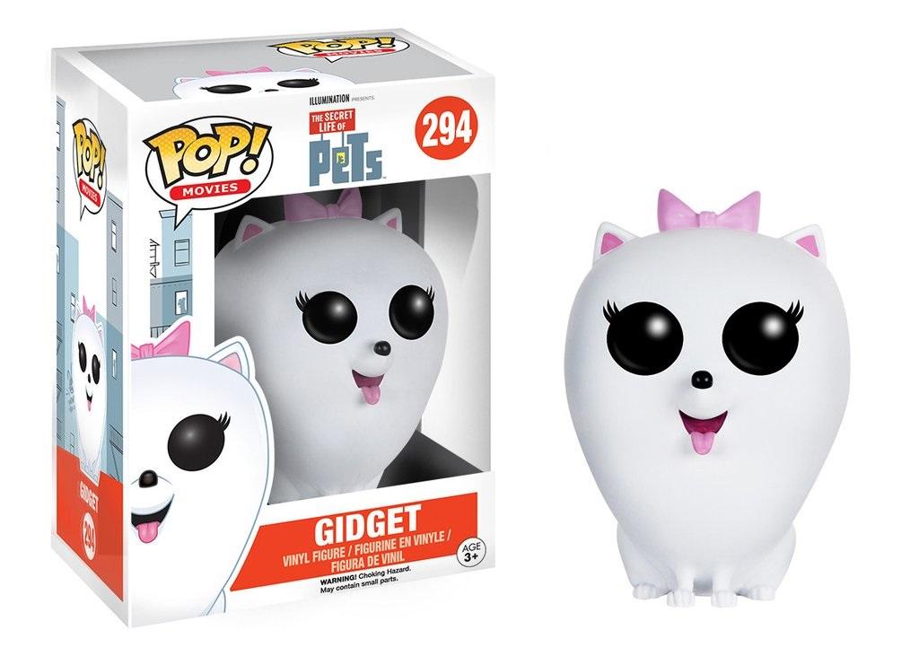Фигурка Funko POP Movies: The Secret Life of Pets – Gidget (9,5 см)Фигурка Funko POP Movies: The Secret Life of Pets – Gidget, созданная по мотивам американской анимационной комедии Тайная жизнь домашних животных, изображает героиню мультфильма по имени Гиджет породы шпиц. Эта белая пушистая собачка очень любит следить за собой, а также влюблена в главного героя мультфильма – терьера Макса.<br>