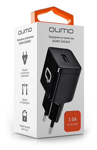 Сетевое зарядное устройство Qumo Energy 1USB 1A зарядное устройство зарядное устройство сетевое qtek s200 htc p3300 ainy 1a