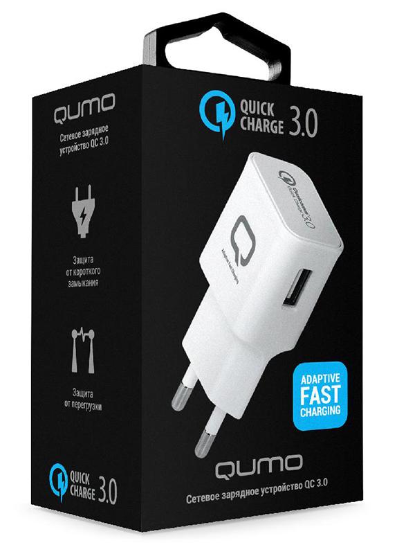 Сетевое зарядное устройство Qumo Quick Charge 3.0&amp;lt;p&amp;gt;Сетевое зарядное устройство QUMO c поддержкой технологии Quick Charge 3.0 на двух портах &amp;ndash; для быстрой зарядки устройств, основанных на процессорах Qualcomm Snapdragon 820, 620, 618, 617, 430 и Samsung Exynos 8890.&amp;lt;/p&amp;gt;<br>