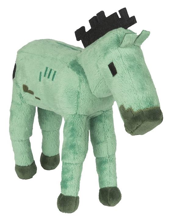 Мягкая игрушка Minecraft: Zombie Foal (18 см)Лошадь-зомби воплощенная в мягкой игрушке Minecraft: Zombie Foal является одной разновидностей дружелюбных мобов, которая спаунится только в Хэллоуин, но может быть получена командой /summon и при помощи яиц призывания.<br>