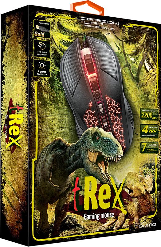 Мышь Qumo Dragon War tRex M16 проводная оптическая для PC мышь qumo dragon war biohazard usb