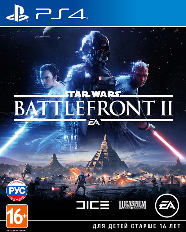 Star Wars: Battlefront II [PS4]Закажите игру Star Wars: Battlefront II до 17:00 часов 15 ноября и получите эксклюзивные облики Рей и Кайло Рена из фильма «Звездные Войны: Последние джедаи», а также эпические модификаторы способностей.<br>