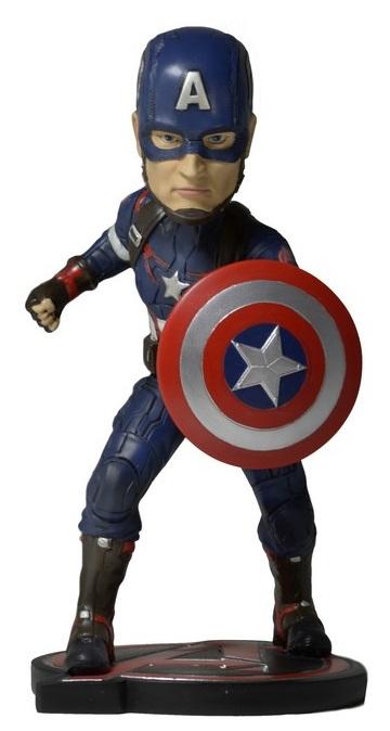 Фигурка Avengers Age of Ultron: Head Knockers – Captain America (17 см)Фигурка Captain America, раскрашенная вручную, воплощает собой главного персонажа фильмов «Мстители» и «Мстители: Эра Альтрона» на подставке.<br>