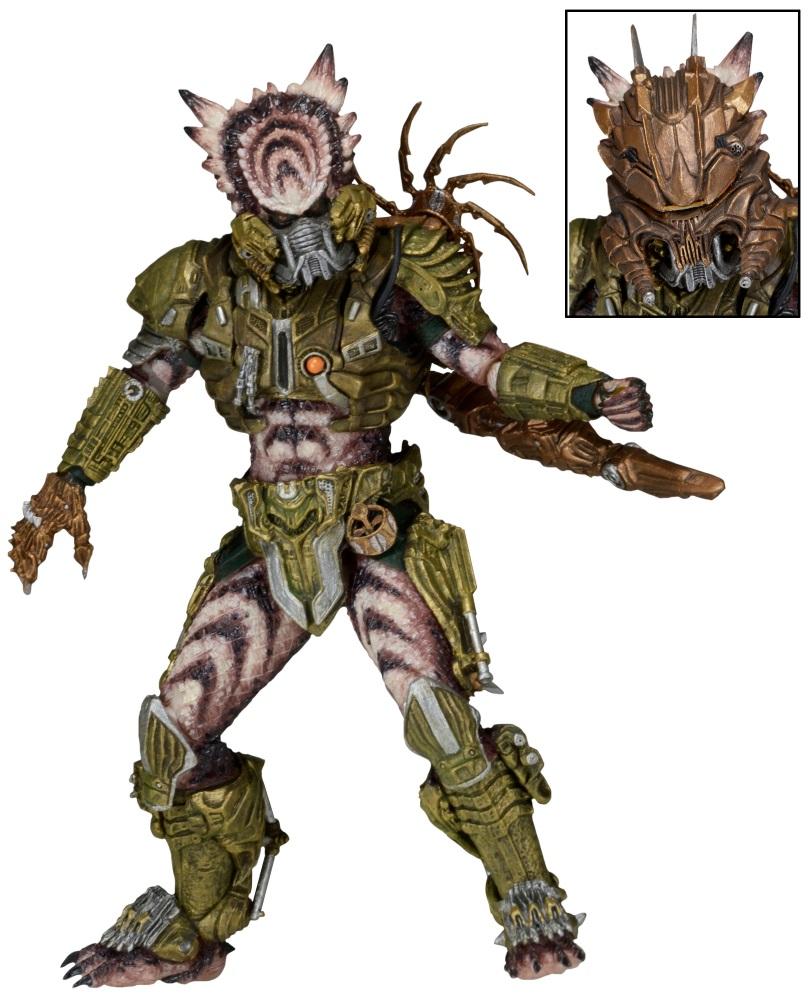 Фигурка Predator: Series 16 – Spiked Tail Predator (20 см)Высоко детализированная фигурка Хищника «Шипастый Хвост» имеет почти 30 точек артикуляции и поставляется в комплекте с  характерными аксессуарами: сюррикеном, наручной плазменной пушкой и съемной маской. Его дреды сплетены в мощный хвост, конец которого вооружен острейшими шипами и сам по себе является мощнейшим оружием.<br>