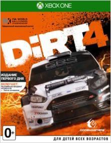 DiRT 4. Издание первого дня [Xbox One]DiRT 4 – четвертая часть серии аркадных гонок. Игра бросает серьезный вызов даже опытным виртуальным гонщикам. Новая Академия DiRT 4 научит навыкам, которые необходимы для достижения вершин в автоспорте, и станет собственной игровой площадкой для оффроуда.<br>