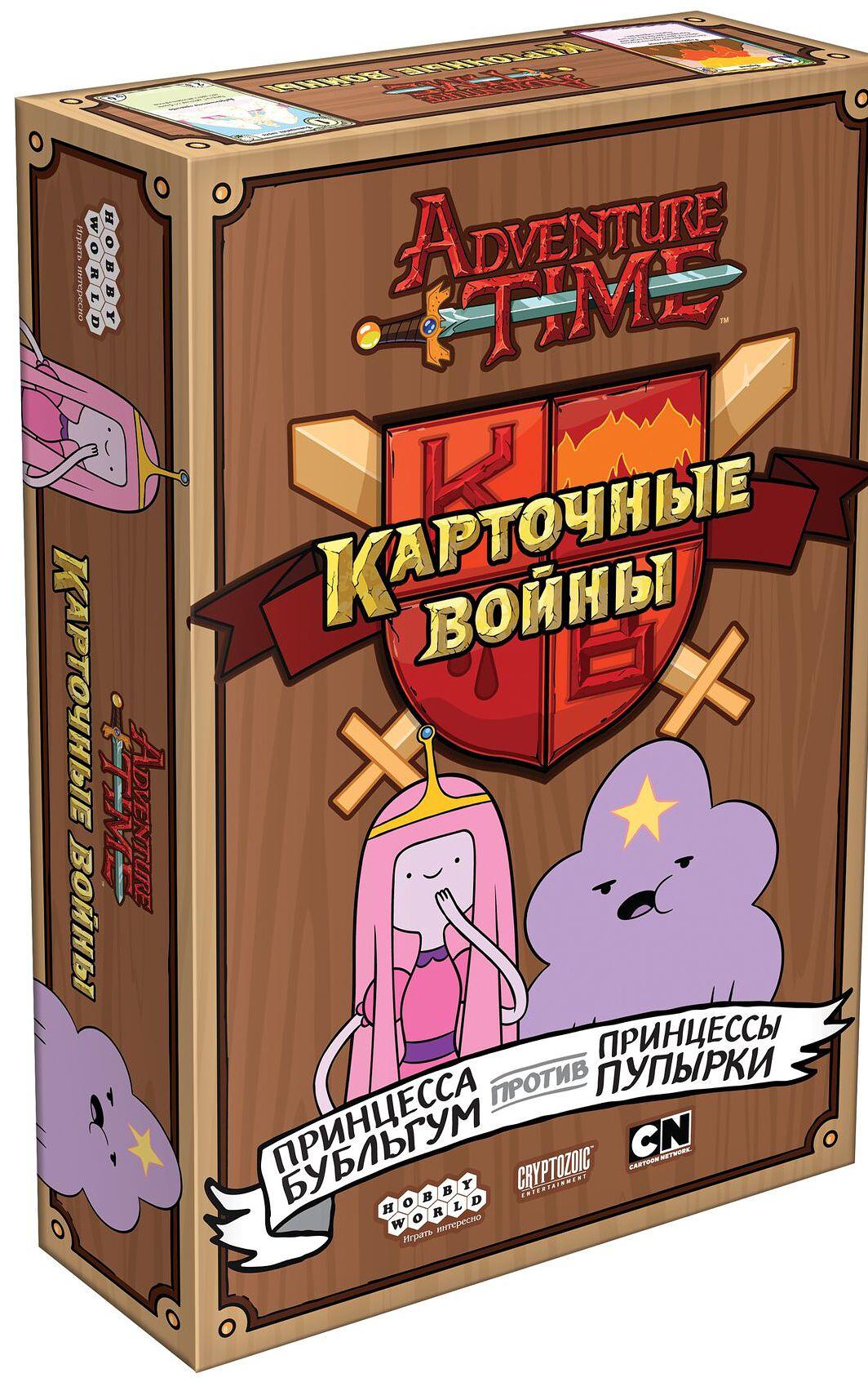 Настольная игра Adventure Time Карточные войны: Принцесса Бубльгум против Принцессы ПупыркиСыграй в коллекционную карточную игру, как герои мультфильма «Время приключений»! В настольное сражение вступают добрые земли – вместе с доброзавром, пушистым козликом и ванильным ангелком. И только губительная мощь вулкана способна обуздать это нашествие милоты!<br>