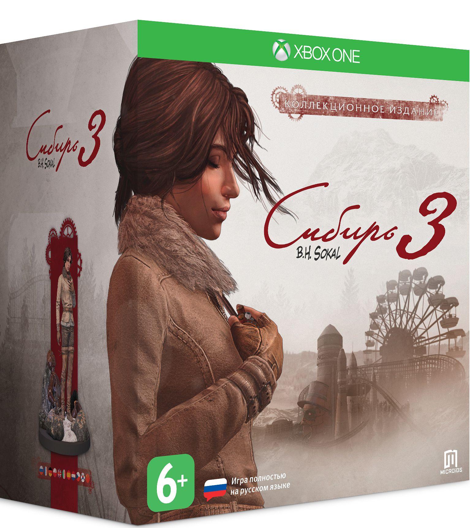 Сибирь 3. Коллекционное издание [Xbox One]Игра Сибирь 3 – совершенно новая история, непохожая на то, что вы могли видеть в первых двух играх серии Сибирь. Вас ждут захватывающее повествование и неповторимый художественный стиль Бенуа Сокаля.<br>